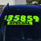 Adhesive Windshield Slogan - Chartreuse/Black (A)