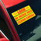 Adhesive Windshield Slogan - Red/Yellow