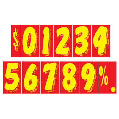 Red/Yellow Adhesive Numbers