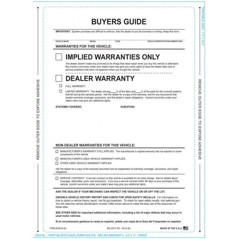 IMPLIED - Press & Seal Buyers Guide - FTC Compliant - No Lines