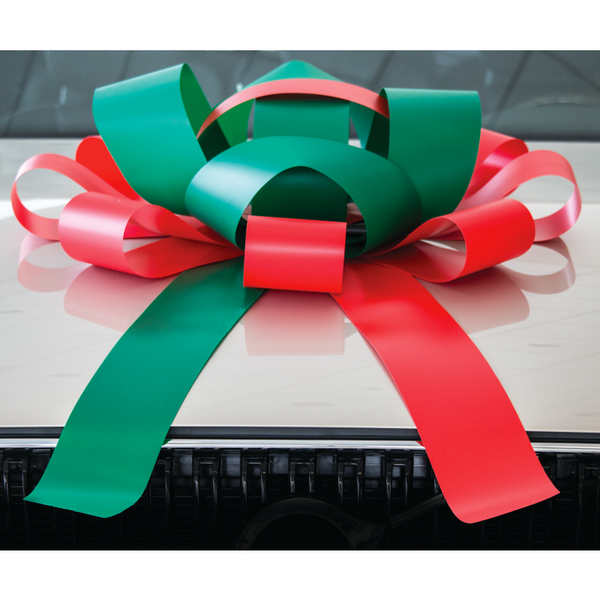 JUM-BOW Magnetic Car Bow - Red and Green