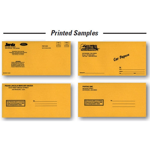 Custom License Plate Envelopes
