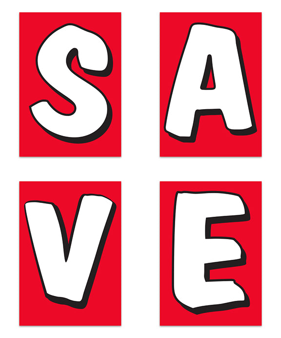 Underhood Sign Kit – SAVE (Red)
