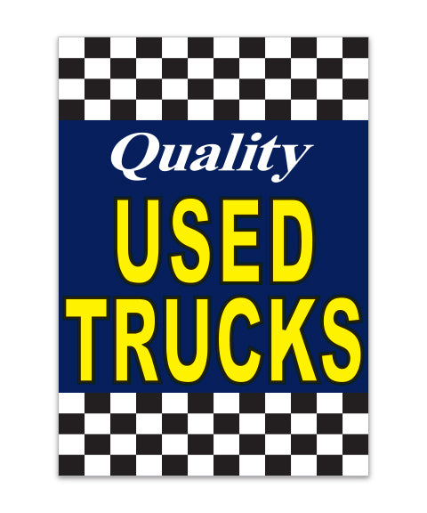 Under Hood Sign - Quality Used Trucks