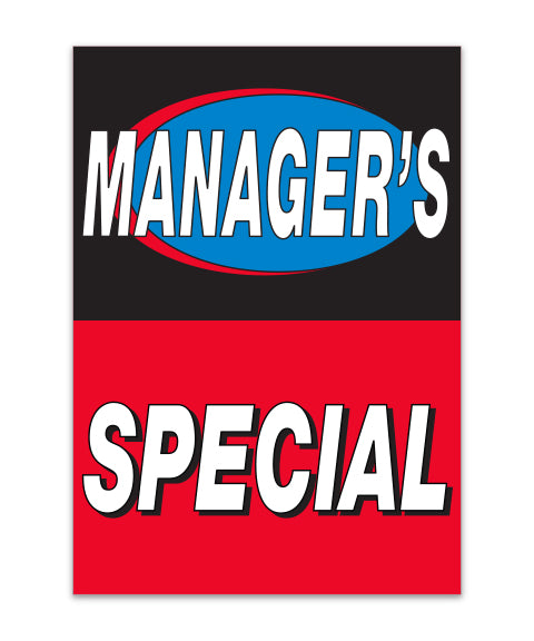 Under Hood Sign - Managers Special
