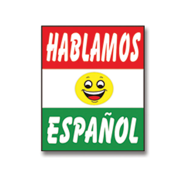 Under Hood Sign - Hablamos Espanol