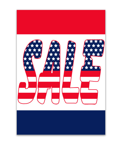 Under Hood Sign - Sale (Patriotic)