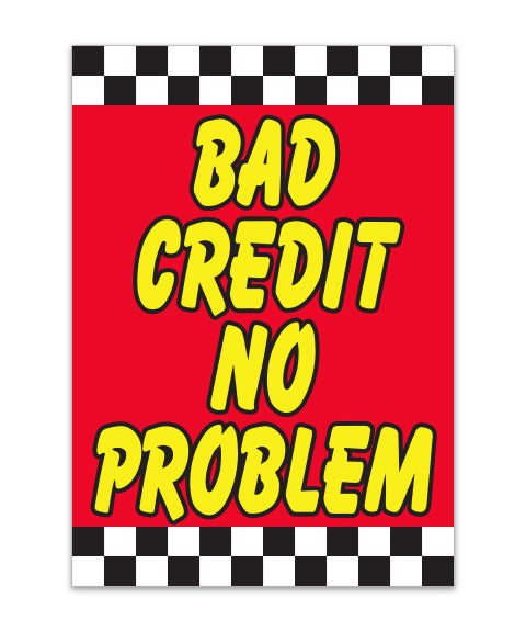 Under Hood Sign - Bad Credit No Problem