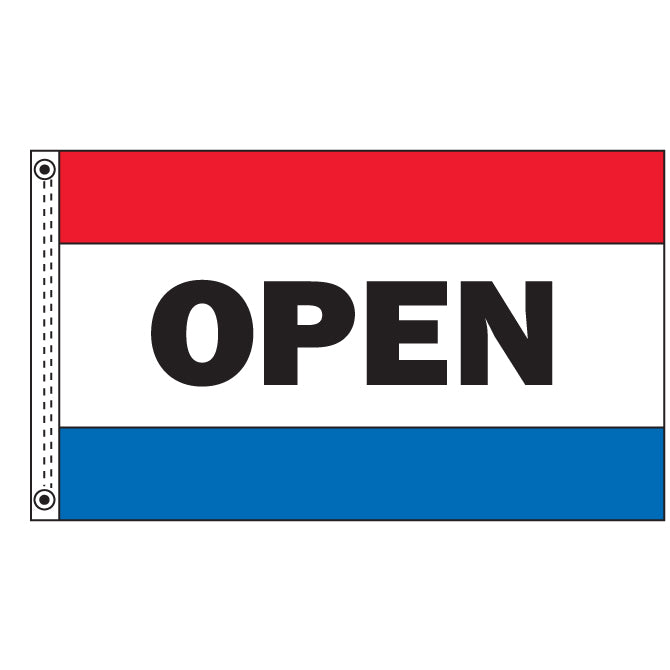 Premium Nylon Flag - Open