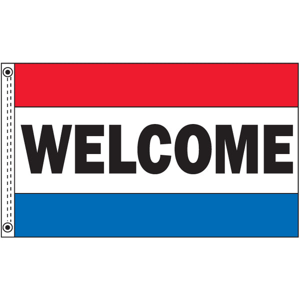 Premium Nylon Flag - Welcome