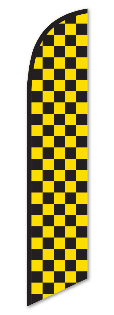 Swooper Flag - Checkered (Black/Yellow)