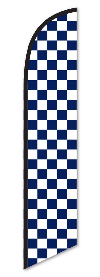 Swooper Flag - Checkered (Blue/White)