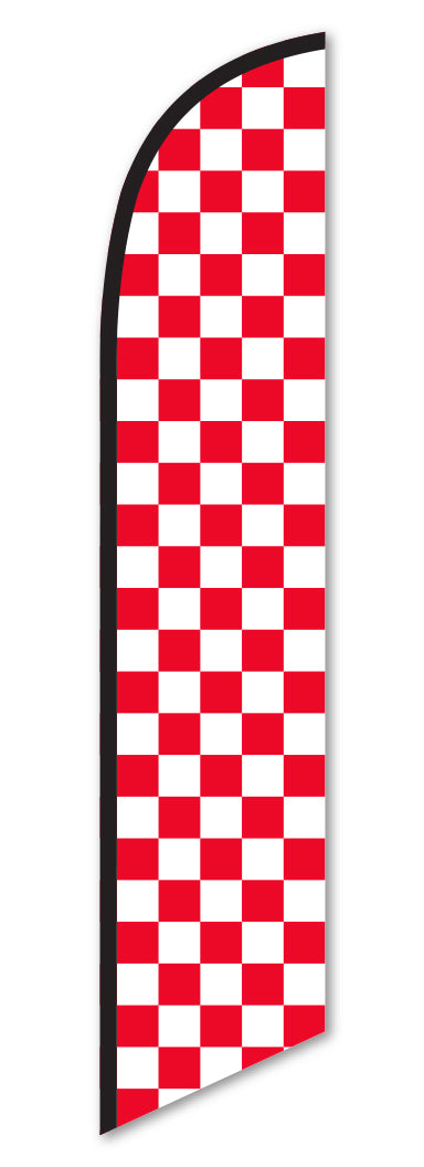 Swooper Flag - Checkered (Red/White)