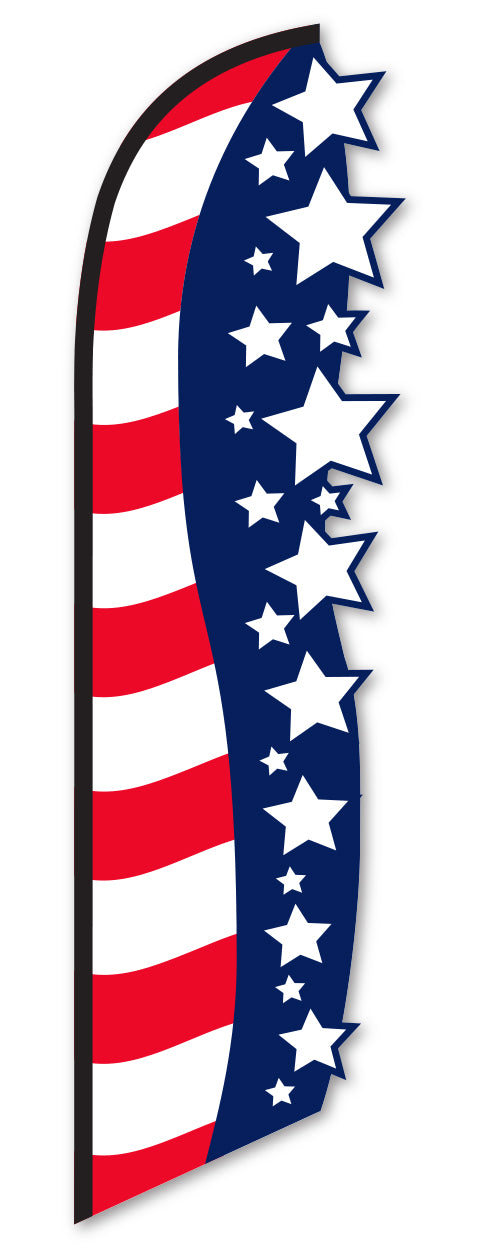 3-D Swooper Flag - Stars and Stripes