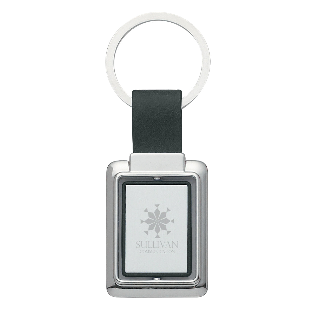 Rectangle Metal Spinner Key Chain