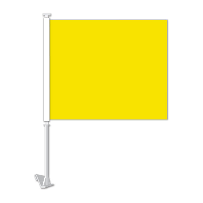 Clip On Window Flag - Yellow