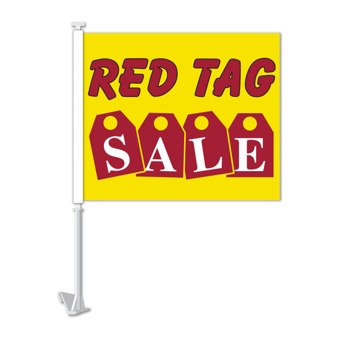 Clip On Window Flag - Red Tag Sale