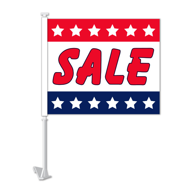 Clip On Window Flag - Sale (stars)