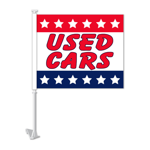 Clip On Window Flag - Used Cars (stars)