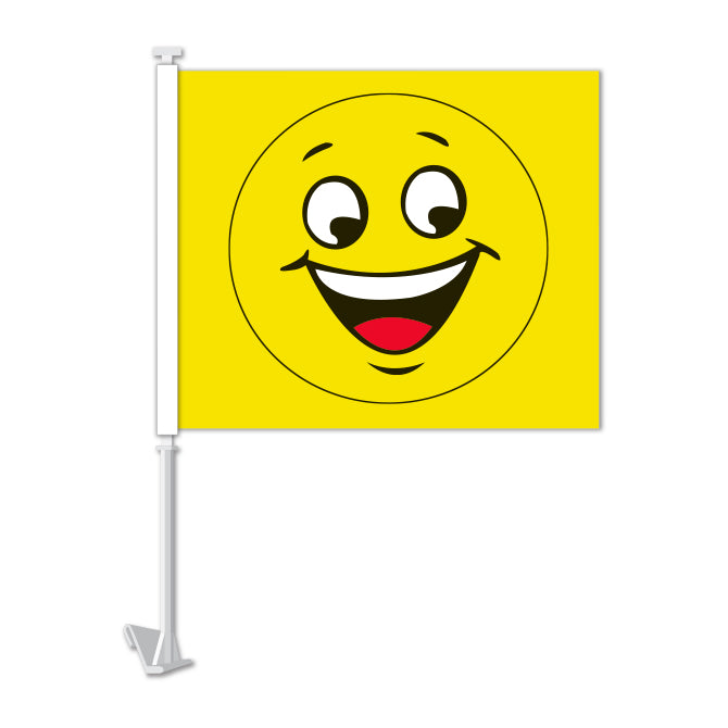 Clip On Window Flag - Happy Face