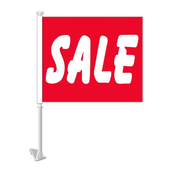 Clip On Window Flag - SALE (red)