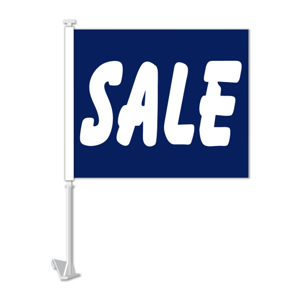Clip On Window Flag - SALE (blue)