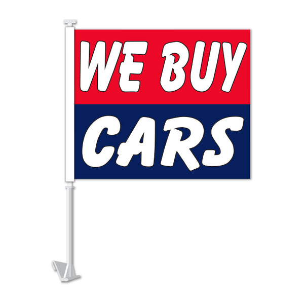 Clip On Window Flag - We Buy Cars