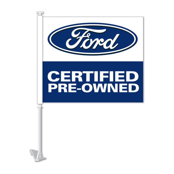 Clip On Window Flag - Ford Certified Pre Owned