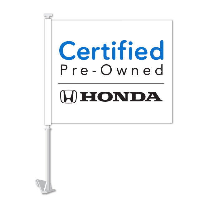 Clip On Window Flag - Honda Certified Pre Owned