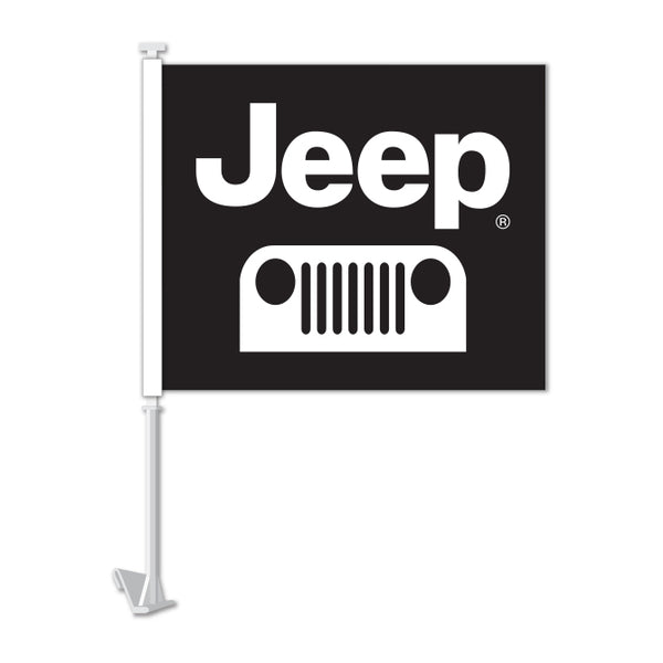 Clip On Window Flag - Jeep