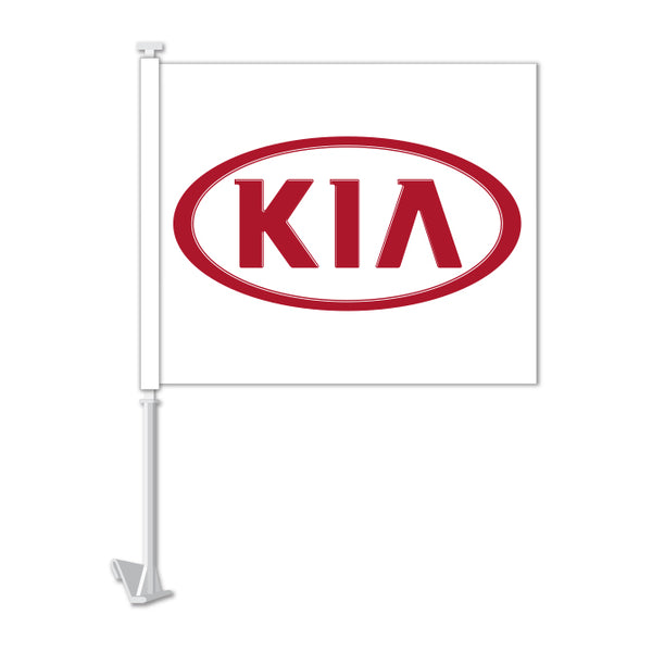 Clip On Window Flag - KIA