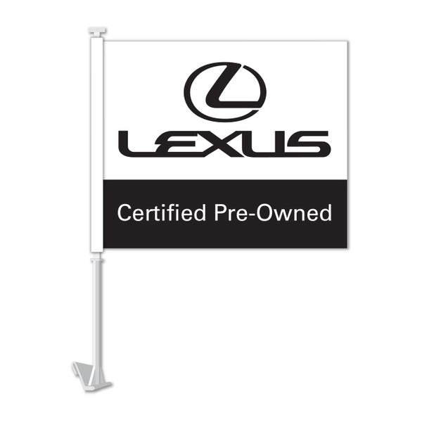 Clip On Window Flag - Lexus Certified Pre Owned