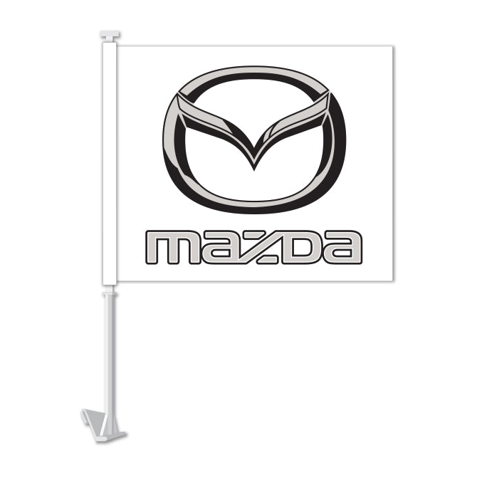 Clip On Window Flag - Mazda