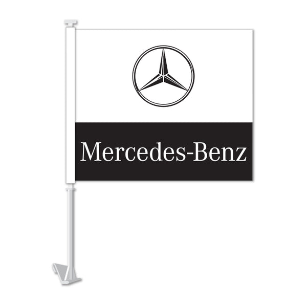 Clip On Window Flag - Mercedes Benz