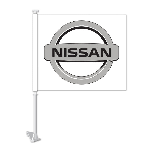 Clip On Window Flag - Nissan