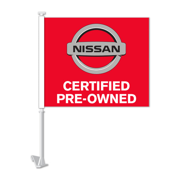 Clip On Window Flag - Nissan Certified Pre Owned