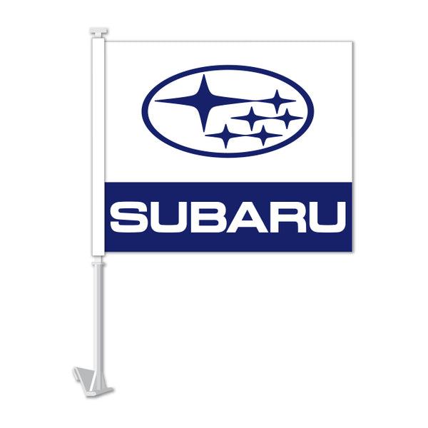 Clip On Window Flag - Subaru