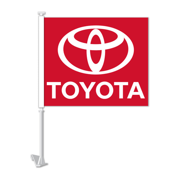 Clip On Window Flag - Toyota