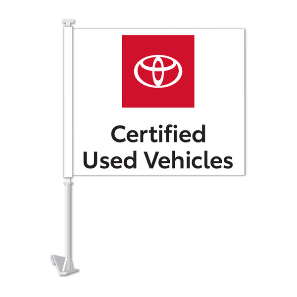 Clip On Window Flag - Toyota Certified