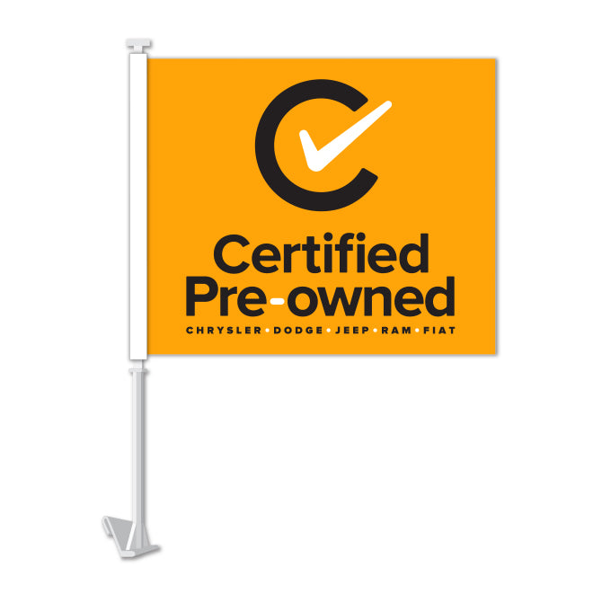 Clip On Window Flag - Certified Pre Owned (CDJR)