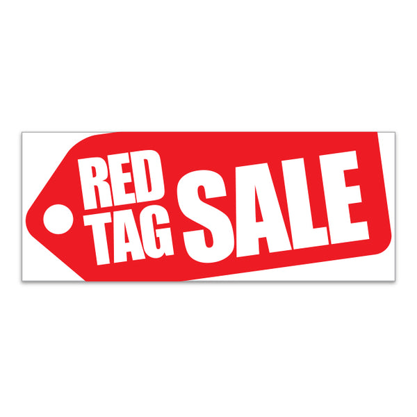 Windshield Banner - Red Tag Sale