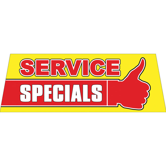 Windshield Banner - Service Specials