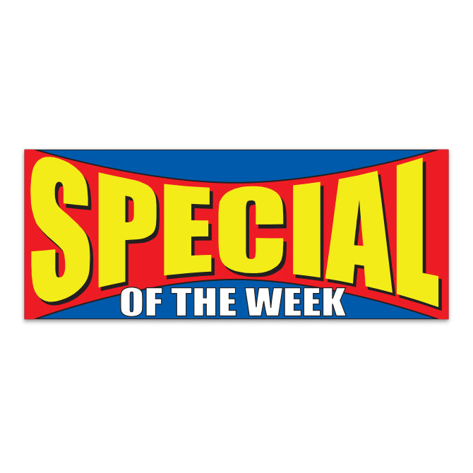 Windshield Banner - Special of the Week