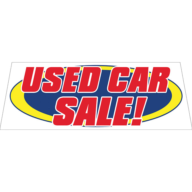 Windshield Banner - Used Car Sale!