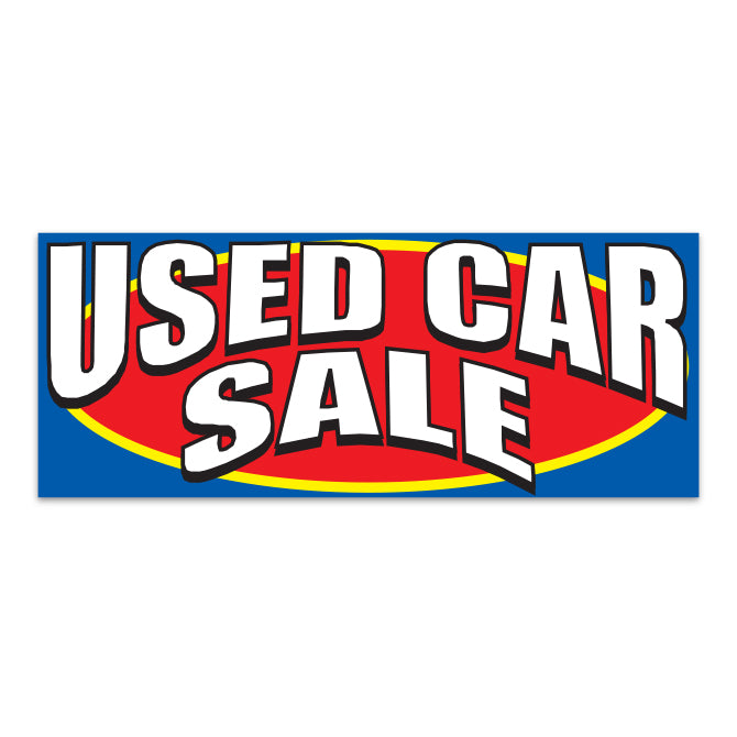 Windshield Banner - Used Car Sale