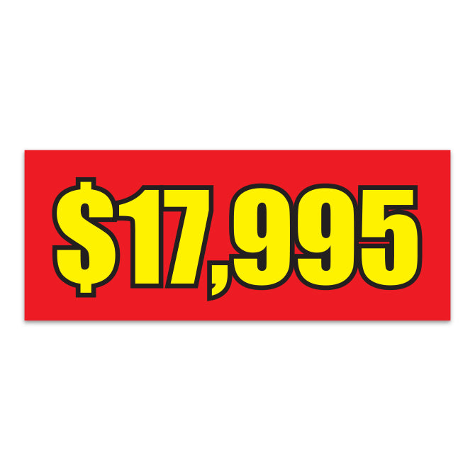 Windshield Banner - $17,995