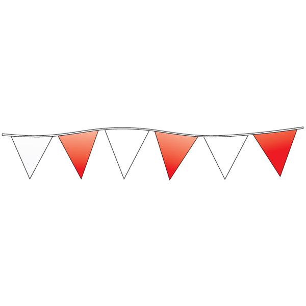 Triangle Pennants - Red and White