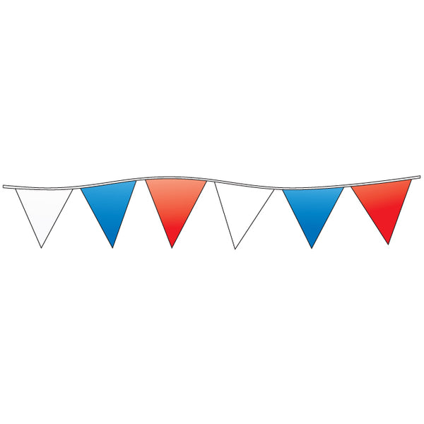 Triangle Pennants - Red, White, Blue