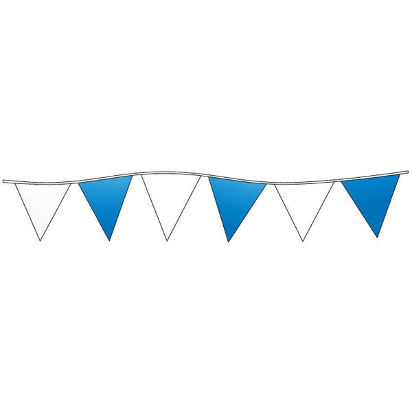 Triangle Pennants - Blue and White