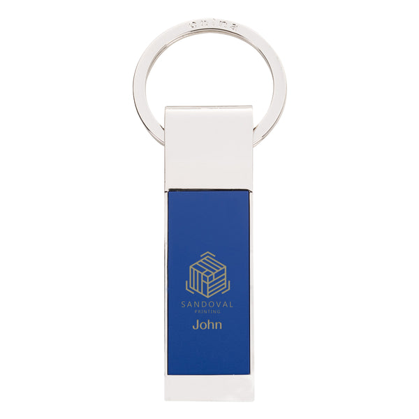 Two-Tone Rectangle Key Chain